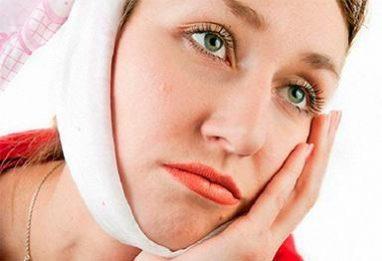 повязка на лице от зубной боли