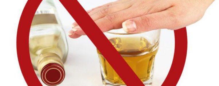 знак запрета употребления алкоголя до и после стоматологии