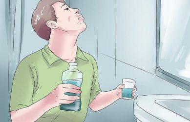 Полоскание рта антисептиком