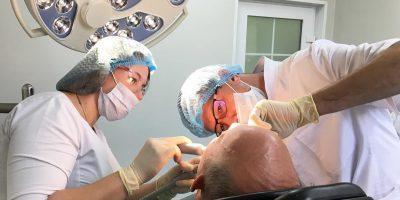 Установка имплантов